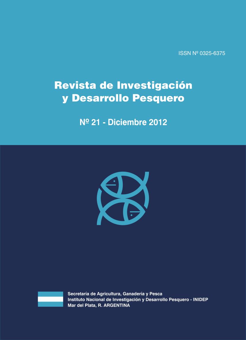 View Vol. 21 (2012): Revista de Investigación y Desarrollo Pesquero
